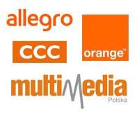 Przykłady marek z pomarańczowym logo