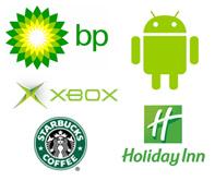 Przykłady marek z zielonym logo