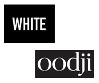 Przykłady marek z białym logo